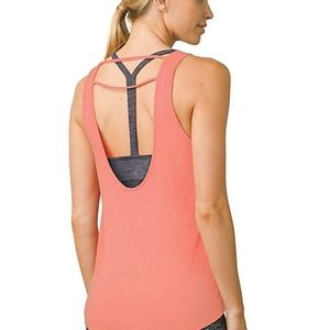 Prana Women's Tilda Tank Top in Peach Size XS